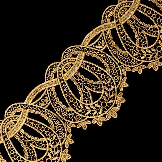 """4 1/2"""" (114.3 MM) Ornate Metallic Lace — Lace"""