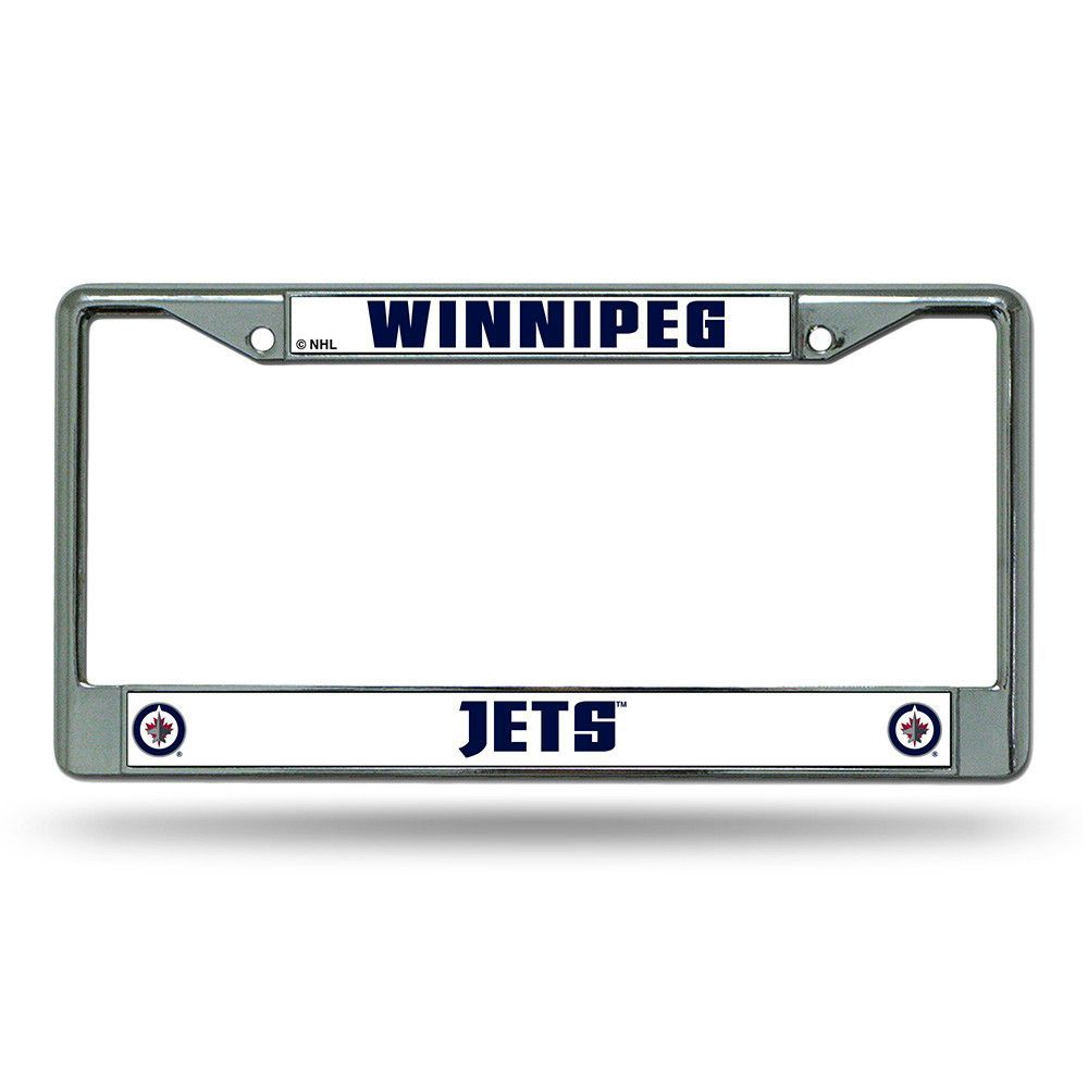 Winnipeg Jets NHL Chrome License Plate Frame | Products | Pinterest ...