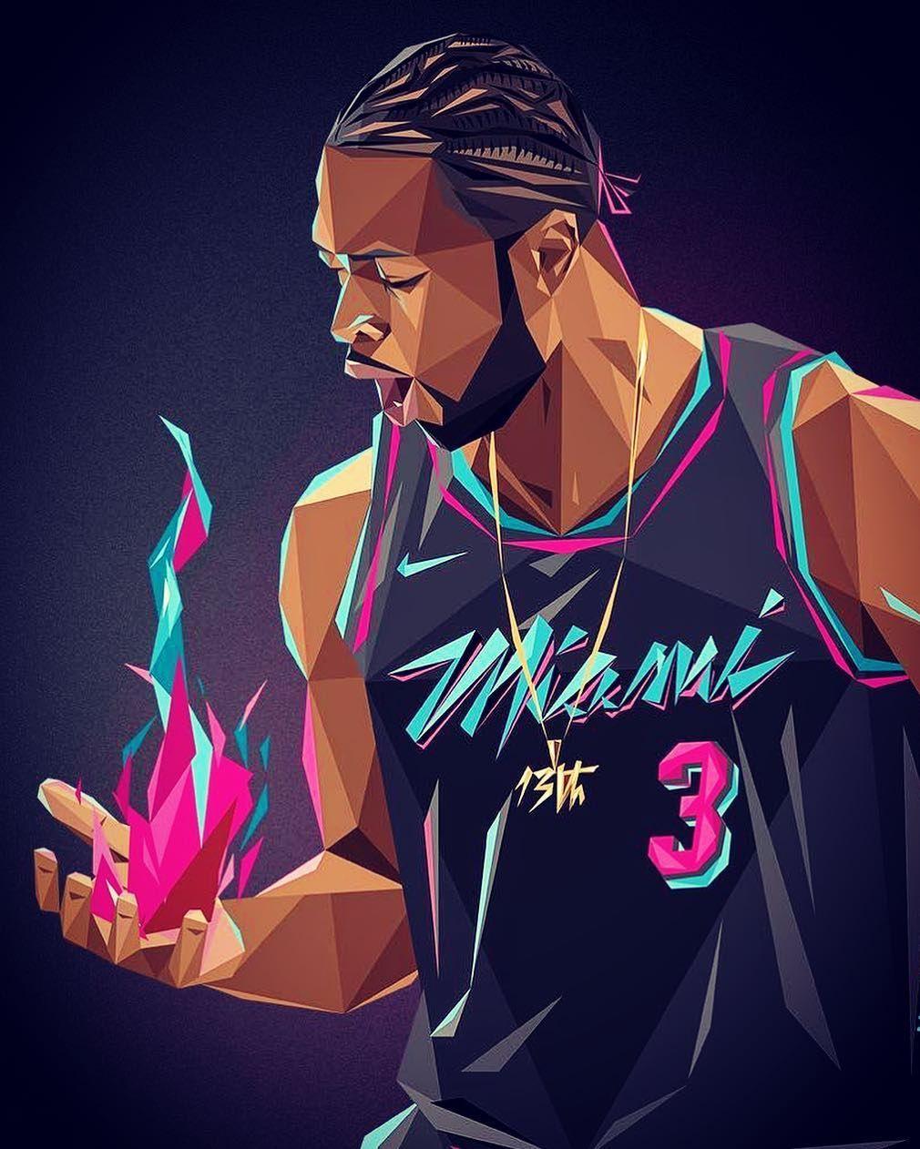 Dwade On That Fire Of Youth Art By 13thvision Consciousbasketball Basketballart Nbaart Dwyanewade Theflash Nba Art Basketball Art Art