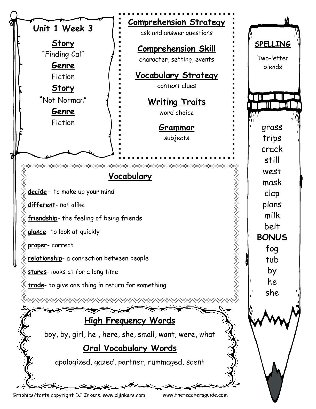 Worksheet Reading Comprehension Test For 2nd Grade mcgraw hill wonders second grade resources and printouts printouts
