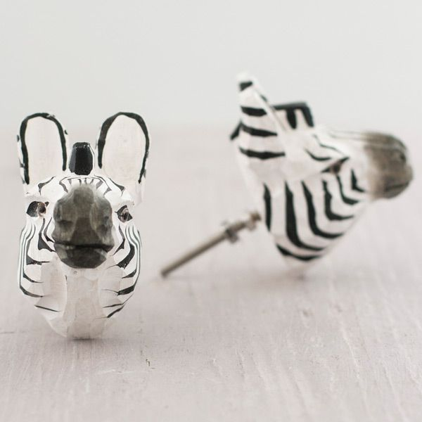Funky Door Knobs | Zebra Drawer Knob | The Other Duckling | push me ...