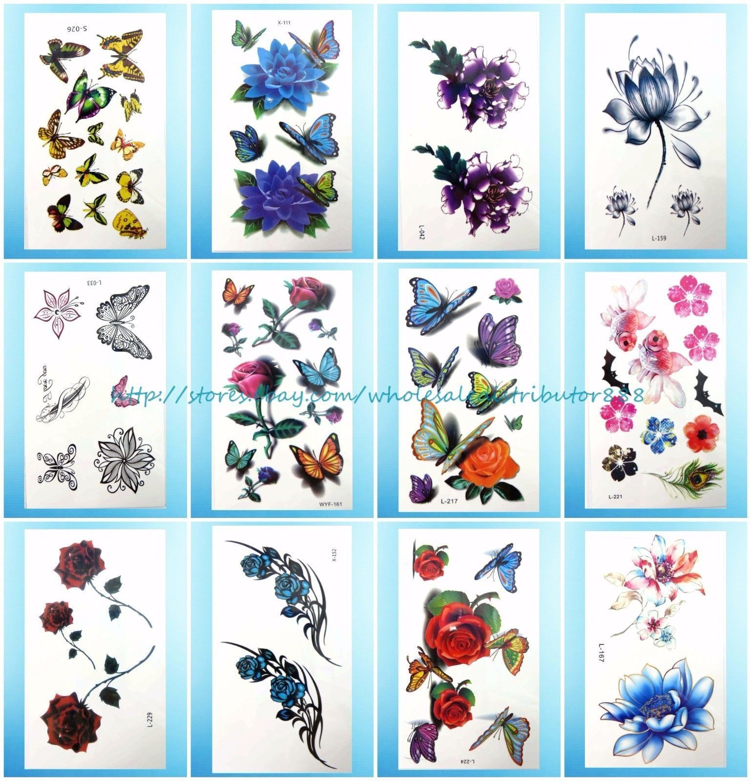 Tramp stamp cover up tattoo ideas us seller  sheets bulk temporary tattoo stickers tramp stamp