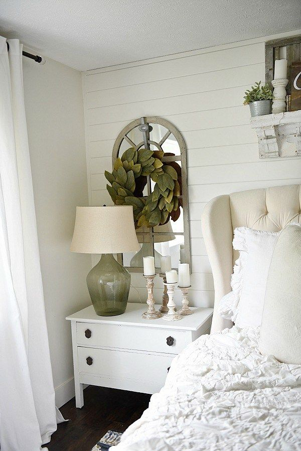 One Horn White Nightstand Makeover   Bedroom night stands ...