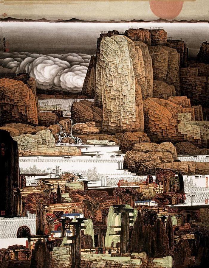 forma es vacío, vacío es forma: Xue Liang - pintura