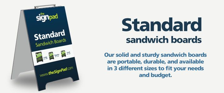 Sandwich Boards Standard Size Design And Printing In