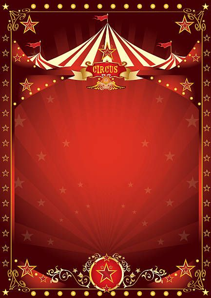 A circus background with a large copy space and a big top for your…