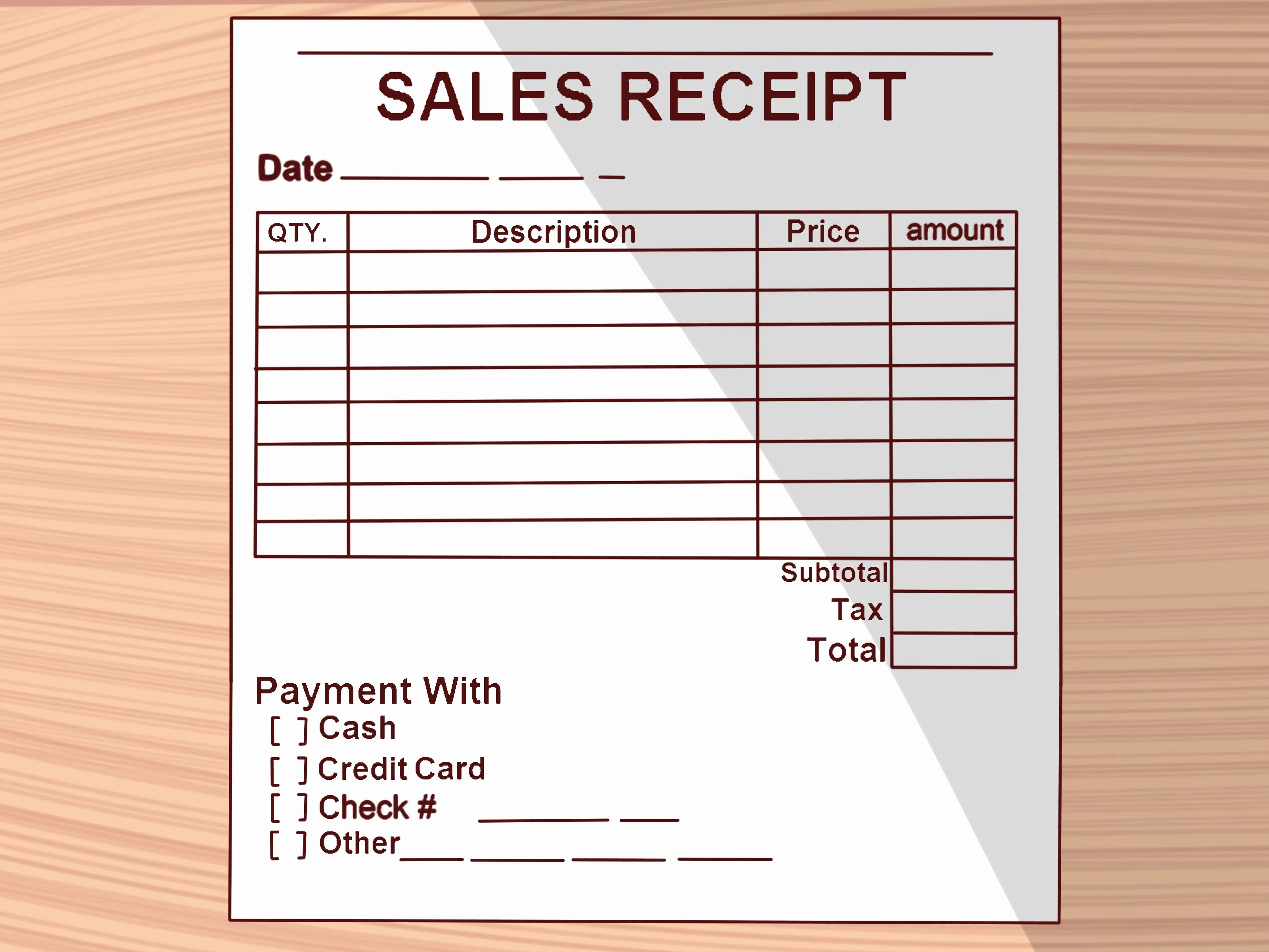 Awesome How To Write A Receipt 9 Steps With Wikihow Receipt Template Free Receipt Template Bill Of Sale Template