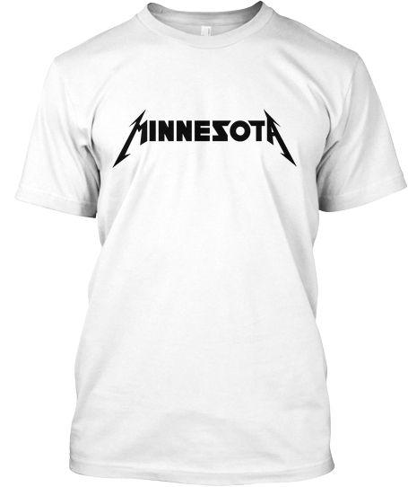 Limited Minnesota Tee Metallica Font Products I Love