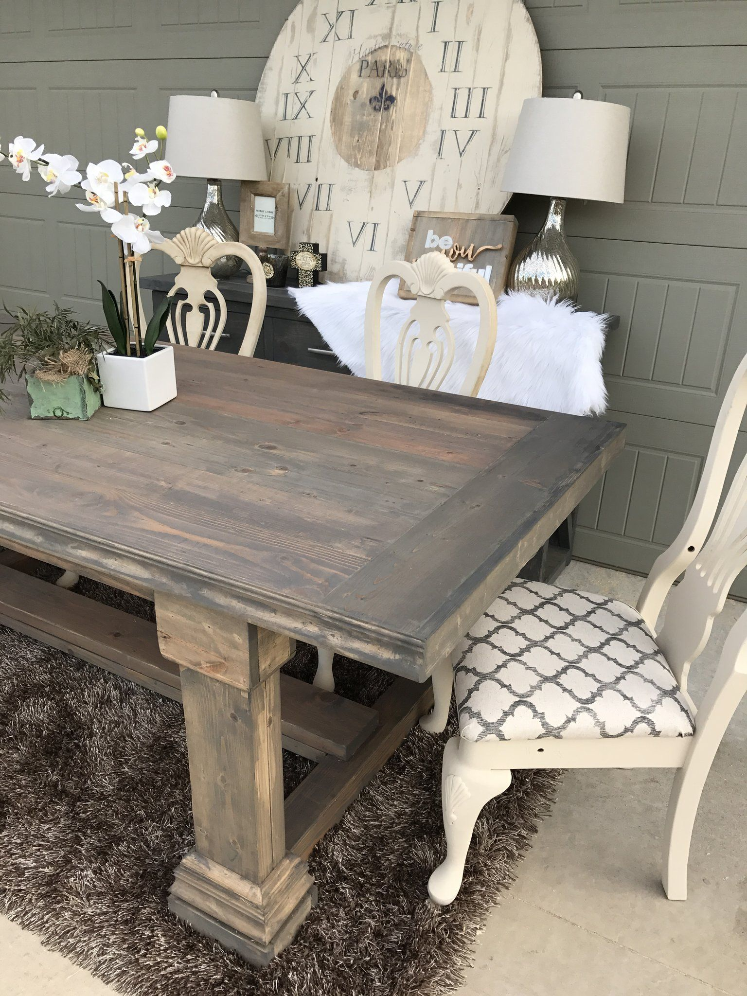Shanty 2 Chic Modified Plans Pedestal Farmhouse Table