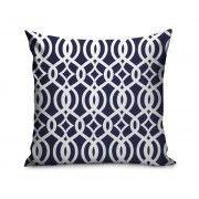 "Navy & White Geometric Pattern 18"" x 18"" Decorative Pillow – GiftsOnSite"