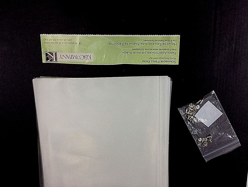 K Company Clear Scrapbook Replacement 82 Pages Expansion Post Kit