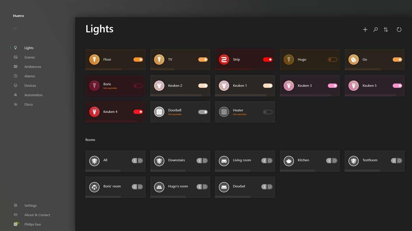 Get Huetro for Hue Microsoft Store Inspiration app