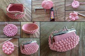 Uncinetto Shabby.Porta Monete All Uncinetto In Stile Shabby Con Schemi E Tutorial Il Blog Italiano Sullo Shabby Chic E Crochet Purse Patterns Crochet Purses Crochet Handbags