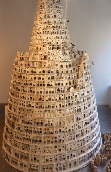 Picture Book Illustration Making An Architectural Model: Lothar Osterburg, Tower Of Babel , 2014-15 Wood, Matboard