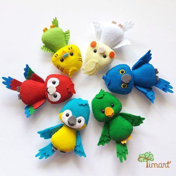 Apostila Digital - Kit Passarinhos 1 #feltbirds