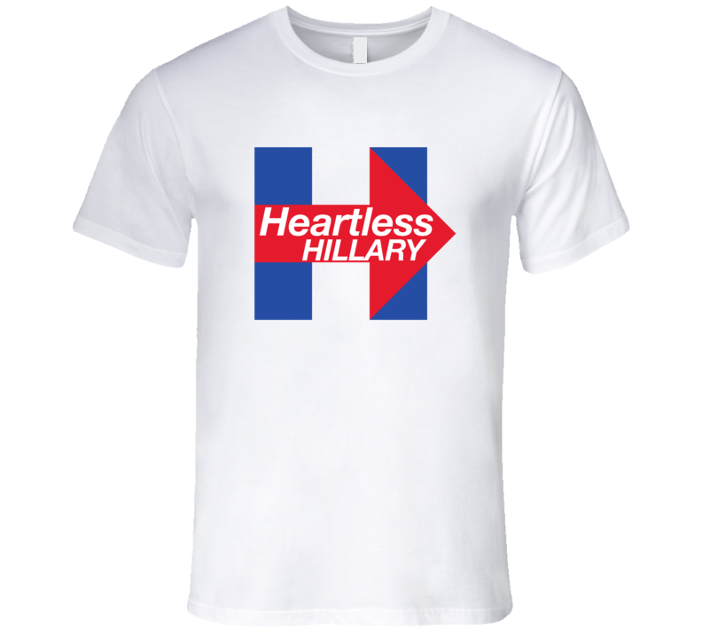 29dd797ee Heartless Hillary Clinton Funny Political T-Shirt Heartless Hillary Clinton T  Shirt Baseball Numbers,