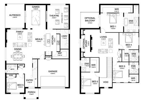 Dynasty 42 4 Double Level Floorplan By Kurmond Homes New Home Builders Sydney Nsw House Plans 2 Storey New House Plans Storey Homes