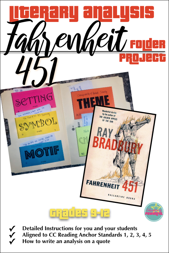Literary analysis essay on fahrenheit 451