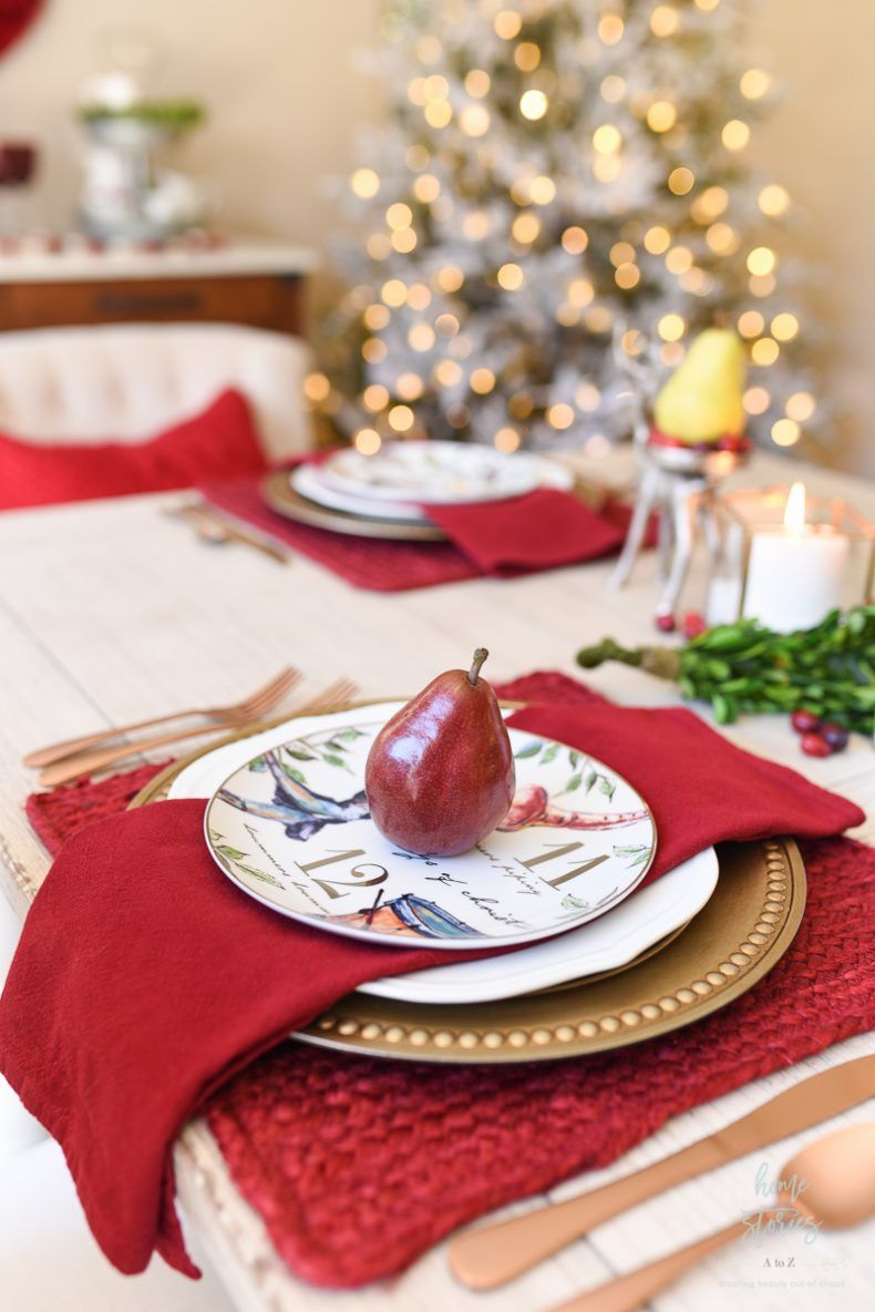 How To Set An Informal Table 12 Days Of Christmas Table Setting Christmas Table Settings Christmas Luncheon 12 Days Of Christmas