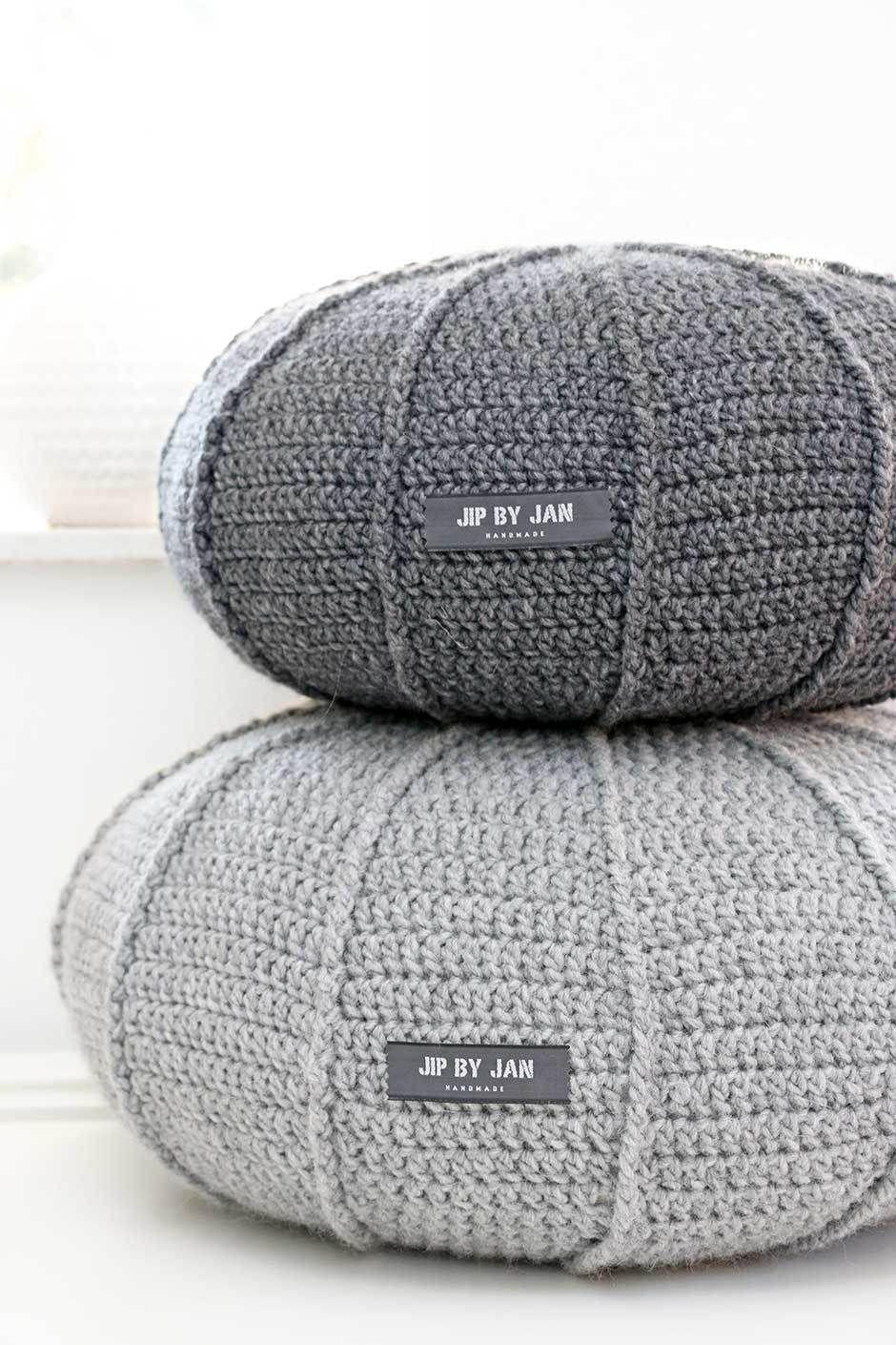 Twee-poefs-met-ribbel-01 | MAKE | Pinterest | Met, Crochet and Haken