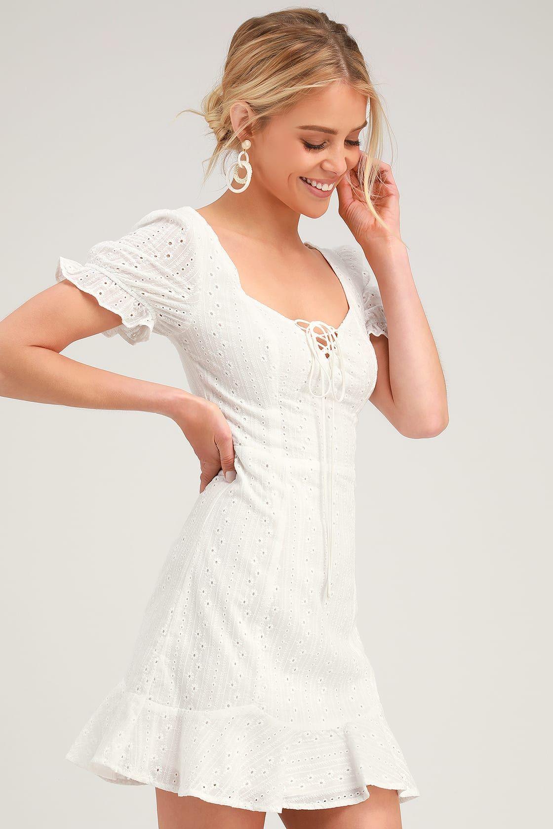 Rapunzel White Eyelet Lace Mini Dress Dresses Lace Mini Dress Eyelet Lace Dress [ 1680 x 1120 Pixel ]