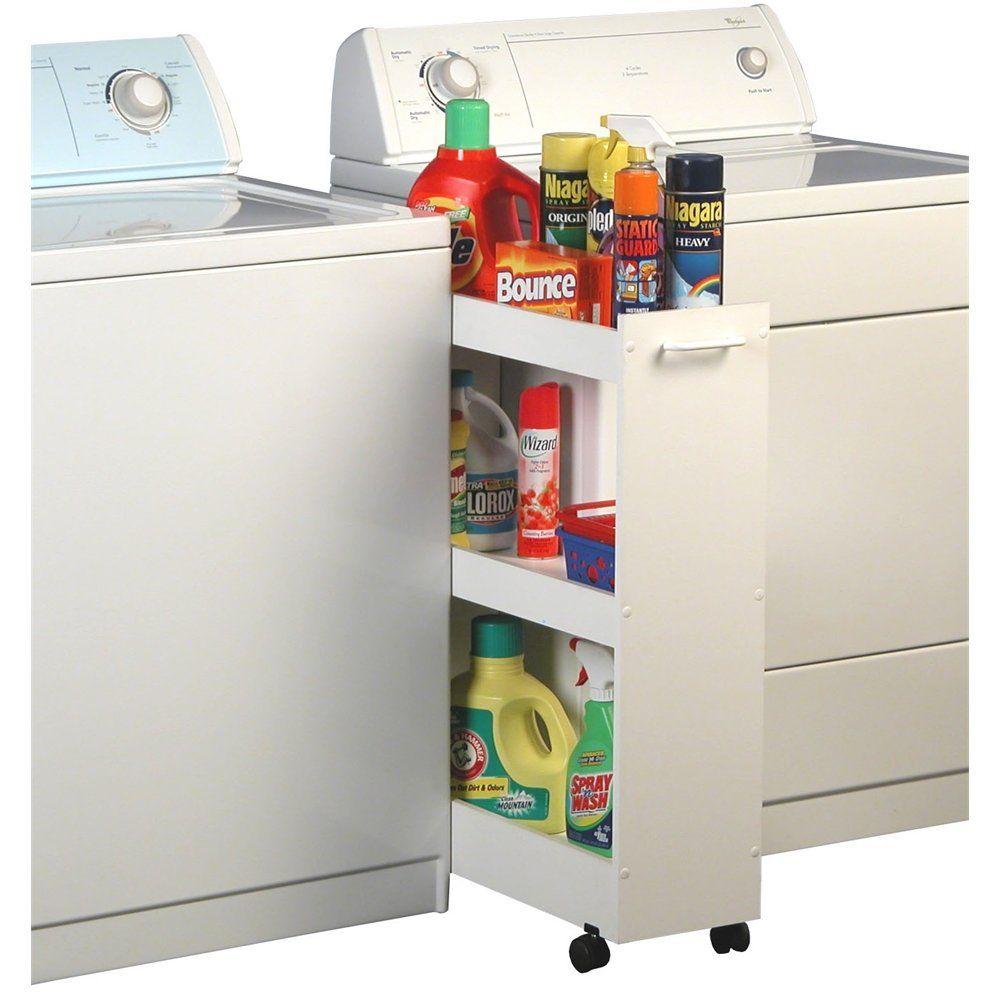 Laundry Caddy 8 1 2 X 25 X 32 White Laundry Room Storage