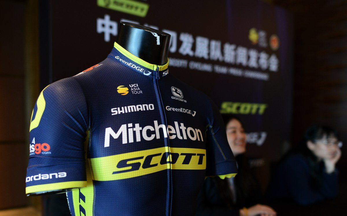 6b1ded7d0 ... becomes Mitchelton-SCOTT for 2018, a professional road race cycling  team. Mitchelton-SCOTT s new black and yellow kit is produced by Giordana  Cycling