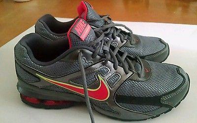 f16df6be1b32 Nike Reax Run Dominate Running Shoes 456819 063 Pewter Pink Volt Womens  Size 9.5