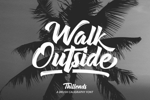 Thillends Script Fonts Free Download Tipografia Letras Disenos