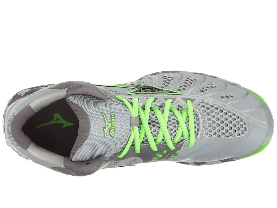site réputé ee677 a5c5c Mizuno Wave Tornado X Mid Men's Volleyball Shoes Grey/Green ...