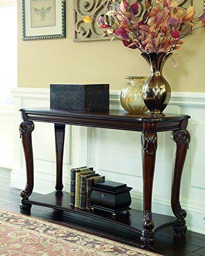 Signature Design by Ashley T5194 Norcastle Sofa Table Dark ...