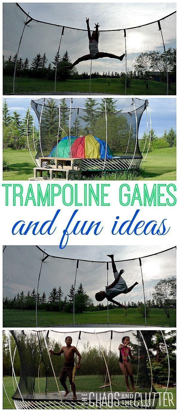 5 Trampoline Games Trampoline games, Trampoline, Summer