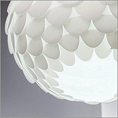 BK Licht Hängelampe weiß - Hängeleuchte LED retro - Deckenleuchte