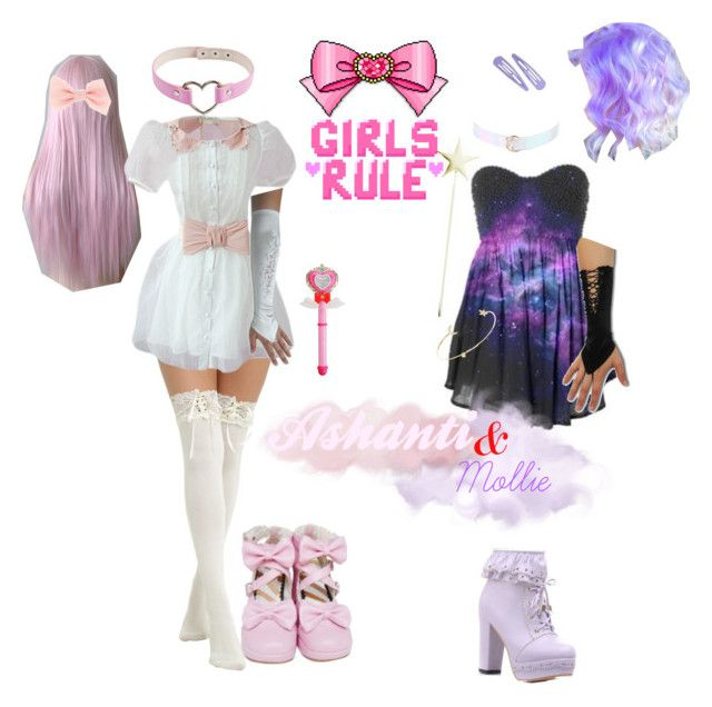 """Ashanti and Mollie: Magical Girl Edition (Rosetta and Starlight)"" by vendettasgirl ❤ liked on Polyvore featuring Tai"