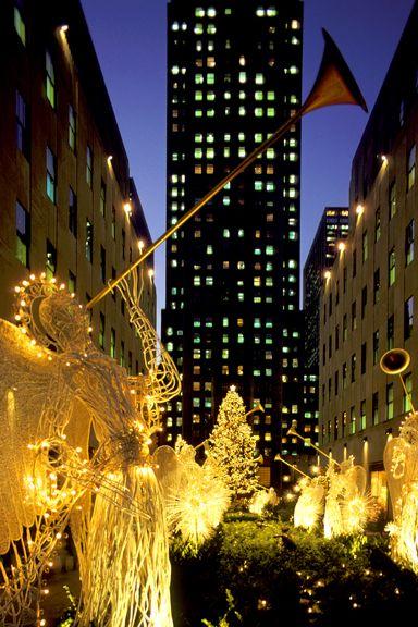 New York City at Christmas time