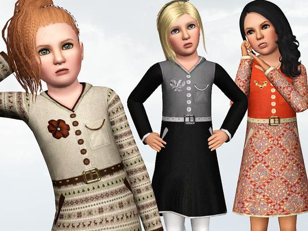 Child Hoodie Dress by Wimmie - Sims 3 Downloads CC Caboodle