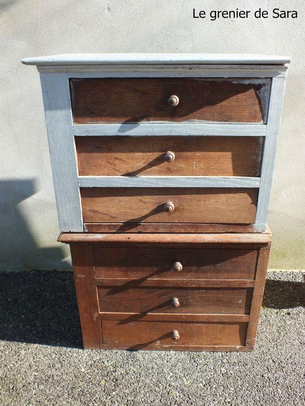 Meuble à tiroirs - Broc et Patine - Le grenier de Sara Bonjour - Comment Decaper Un Meuble