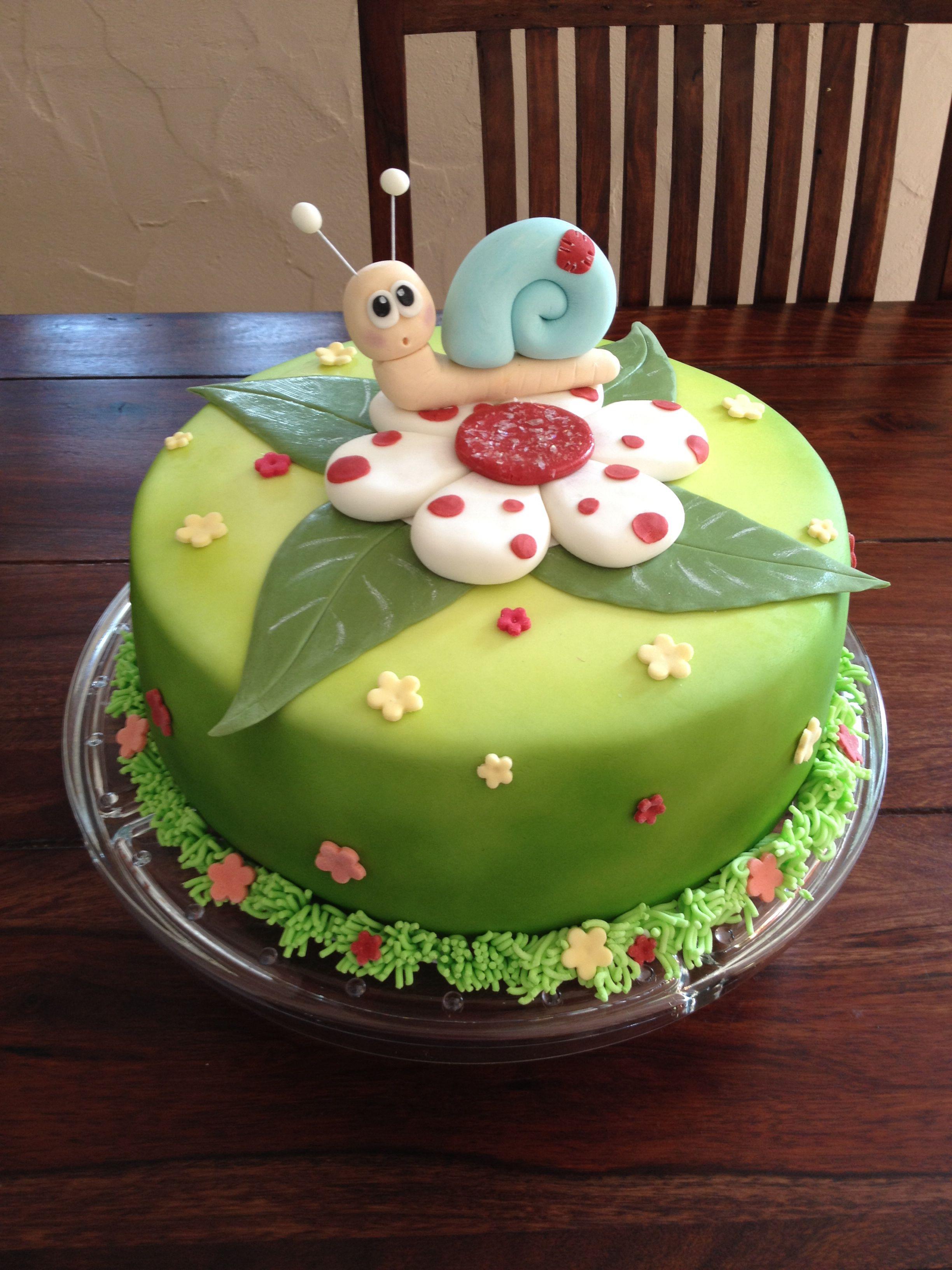 Snail Cake Schneckenkuchen Torte Kindergeburtstag Tiere Schnecken Kuchen