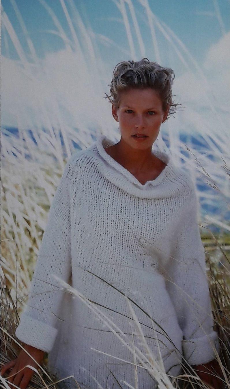 Sweater super fácil para tejer a dos agujas, patrón GRATIS con ...