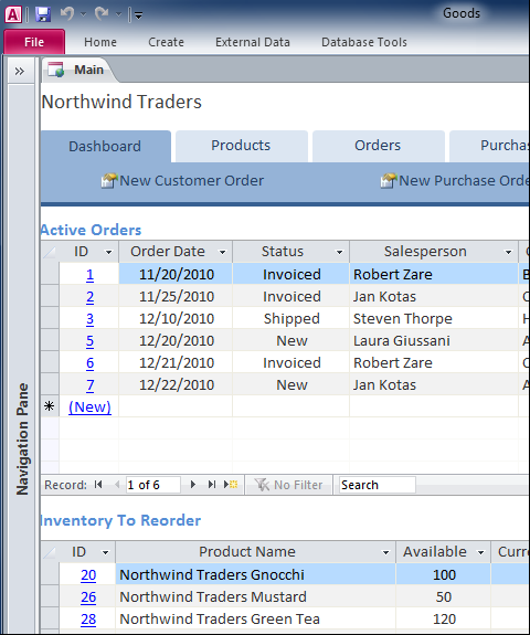 Database Tracks Inventory Orders Supply And Reports  Pambahay
