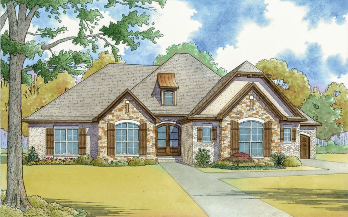 Plan 70566mk French Country House Plan With Vaulted Master Suite French Country House Farmhouse Style House Plans French Country House Plans