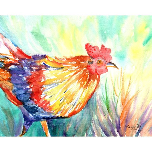 Kauai Roosters Original Watercolor Paintings By Kauaiartist