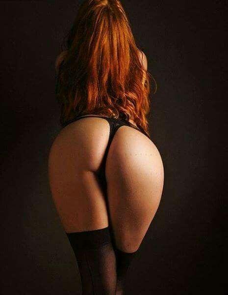 Redhead in thongs something