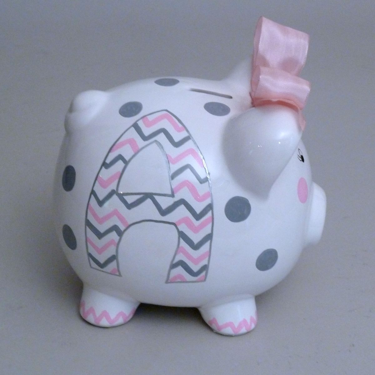 Piggy Bank Idea Large Girly Chevron Piggy Bank 2 5 This Little Piggy