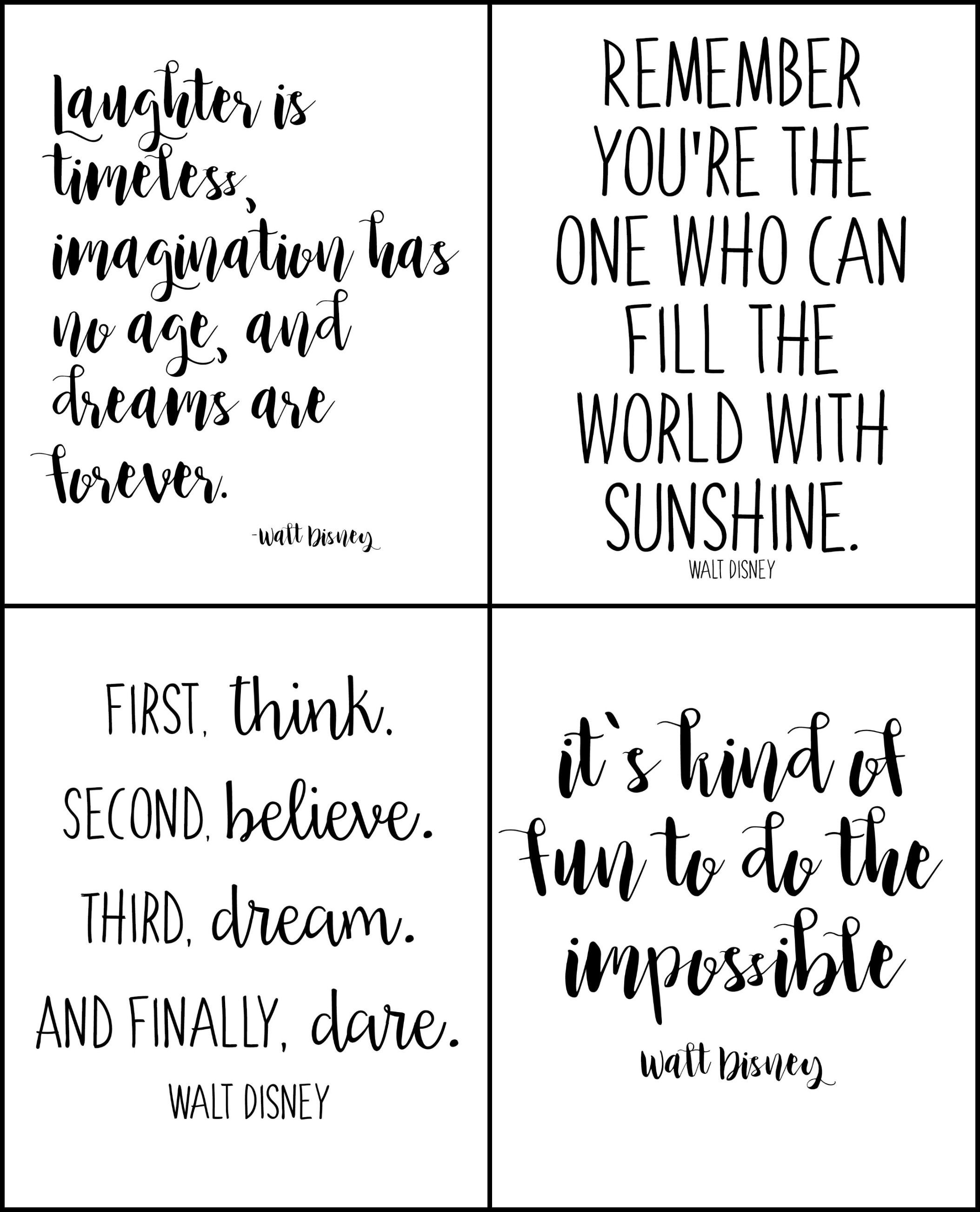 Free Printable Walt Disney Quotes  Walt Disney Quotes Disney