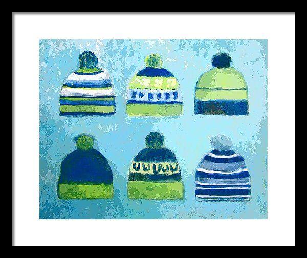 Seahawks Caps Framed Print by Kazumi Whitemoon | Seahawks, Fine art ...