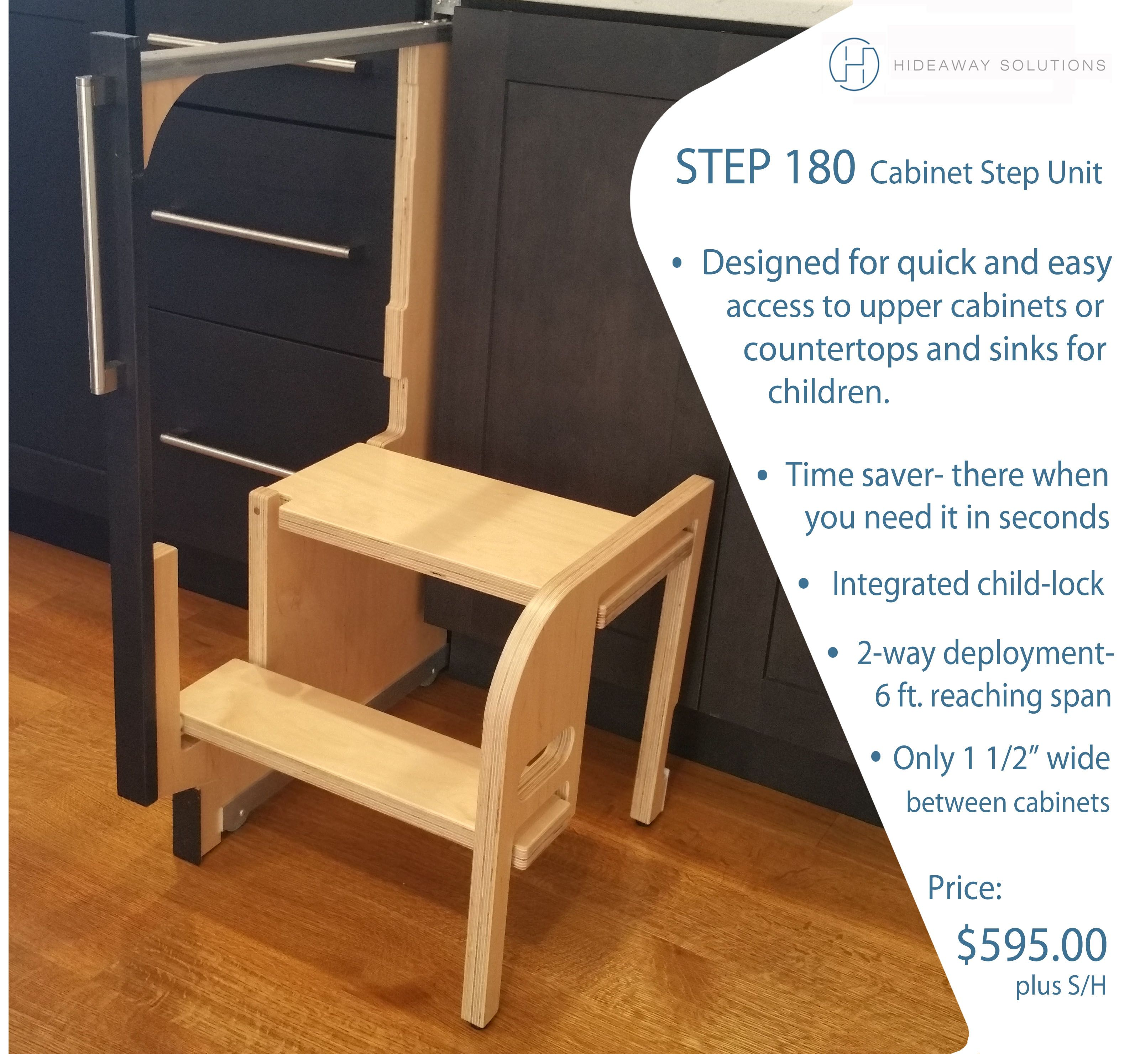 Step 180 | Kitchen step stool, Kitchen cabinet storage, Stool