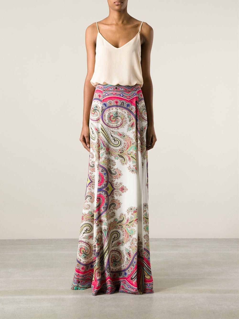 270070a87c Etro Printed Maxi Skirt - - Farfetch.com Falda Con Estilo