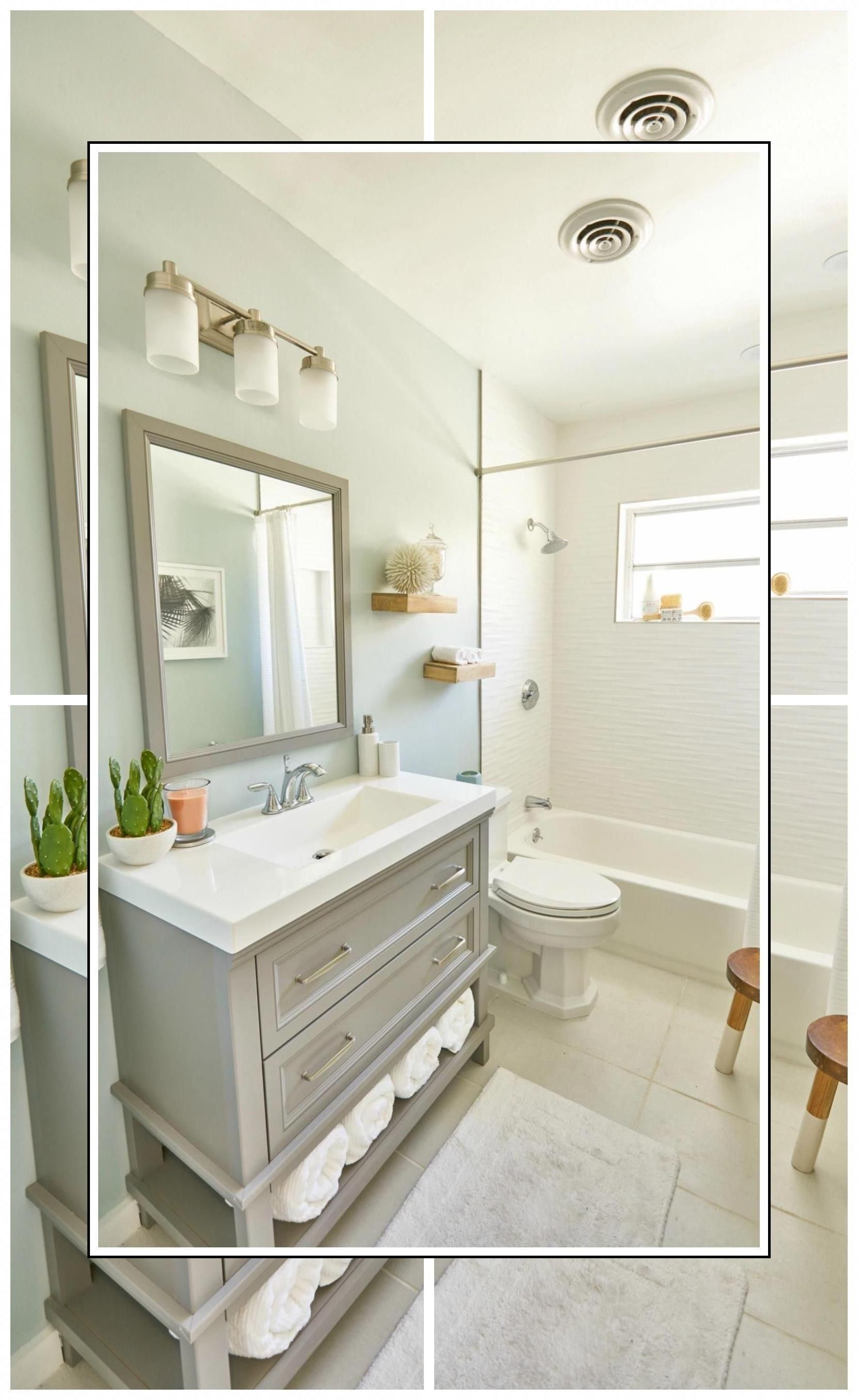 White Bathroom Decor  Spring Bathroom Decor  Brown And Gold