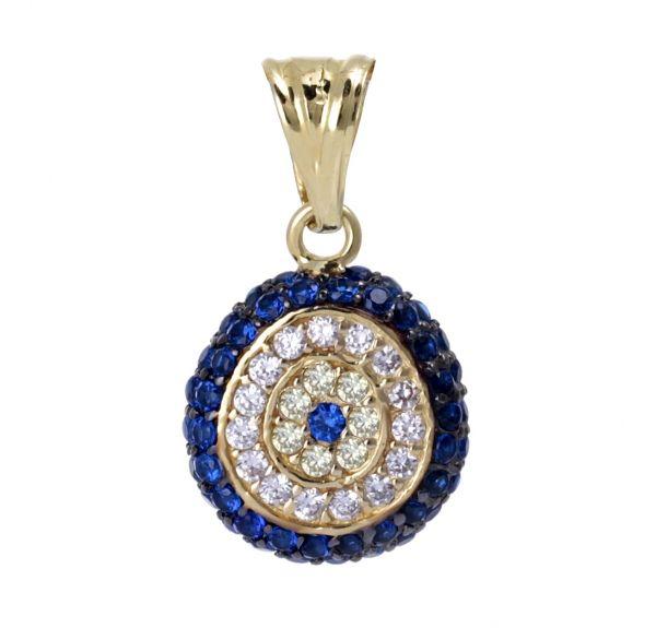 Turkish Evil Eye Gold Pendant Gold Evil Eye Jewelry Evil Eye Necklace Evil Eye Pendant